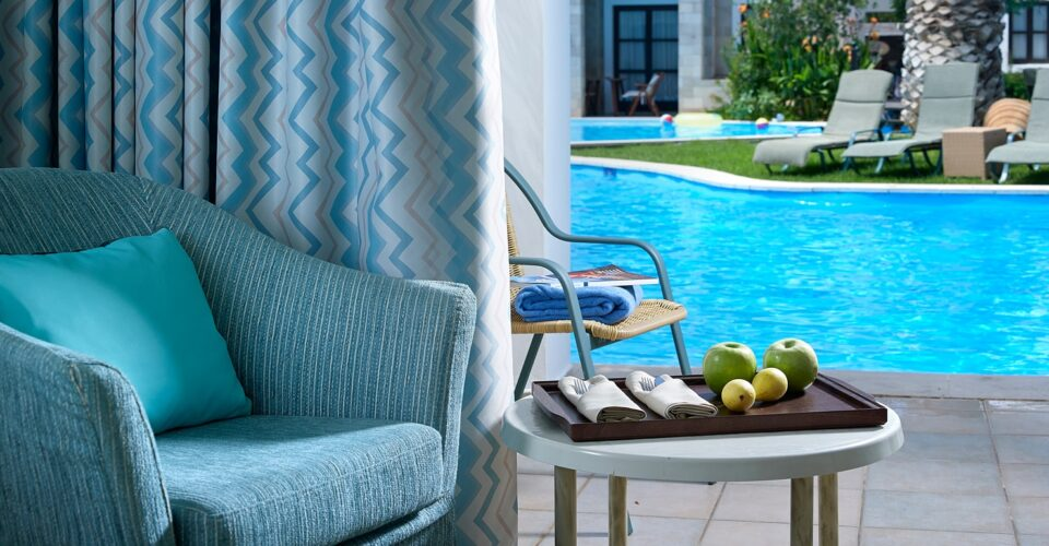 Swim-up Room About Aldemar Resorts | Luxury & Beach Resorts | aldemar-resorts.gr